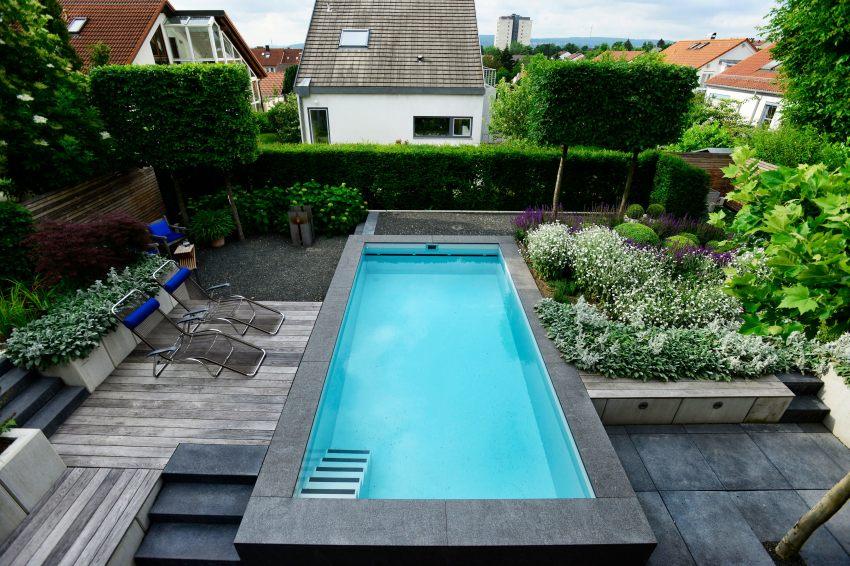 Blau in gr n naturnahes schwimmbad frank dahl gartenkontor - Kleine pools fur kleine garten ...